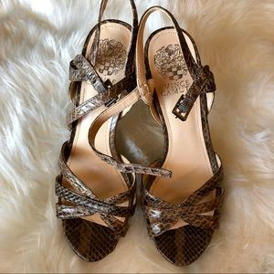 Vince Camuto Snake Print Heels Size 7/37